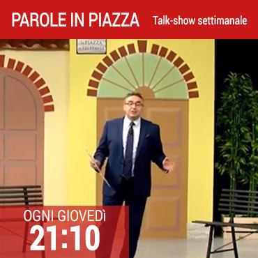 Parole in piazza: talk-show con Stefano Calvi