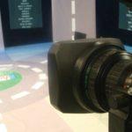 telecamera e studio di registrazione