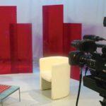 studio di registrazione e telecamera