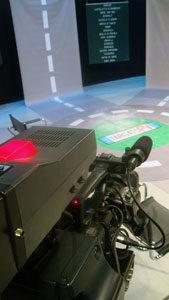 telecamera e studio