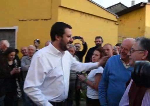 Matteo Salvini in Lomellina per supportare i candidati del Carroccio alle comunali
