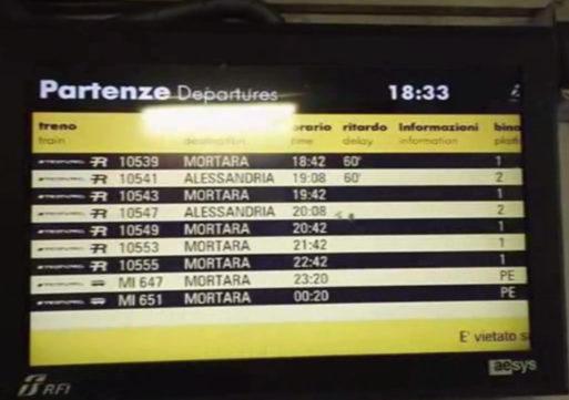 Ritardi e cancellazioni, due giorni da incubo sulla Milano-Mortara